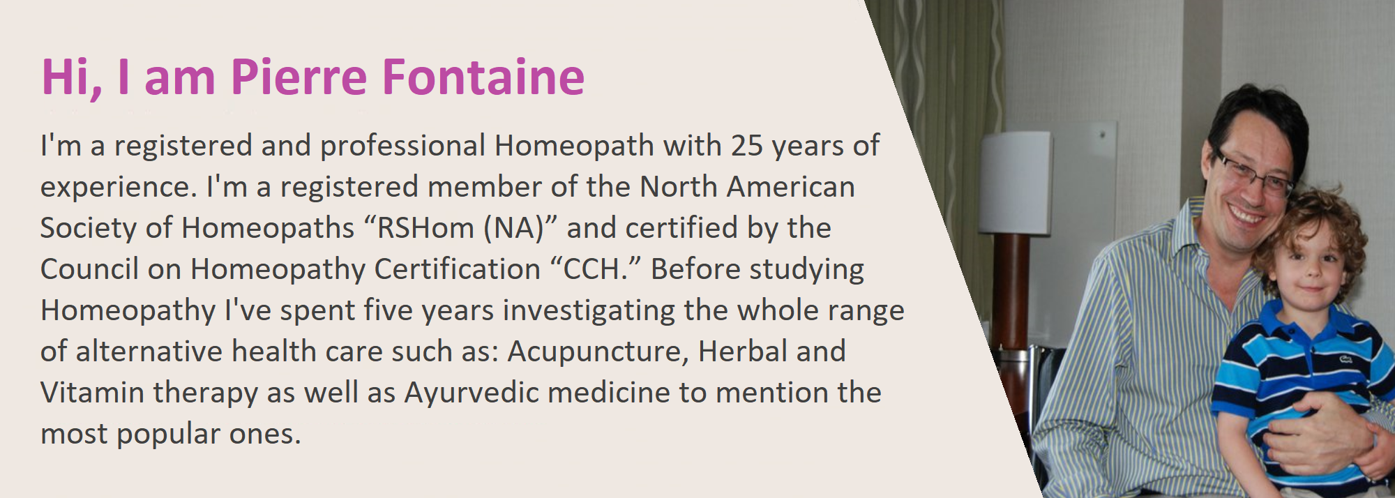 Pierre Fontaine - Certified homeopath and clinic in New York city